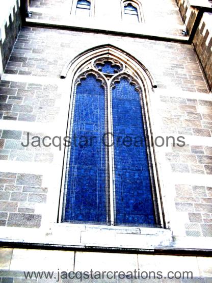 Arched window in Church in Melbourne, Australia