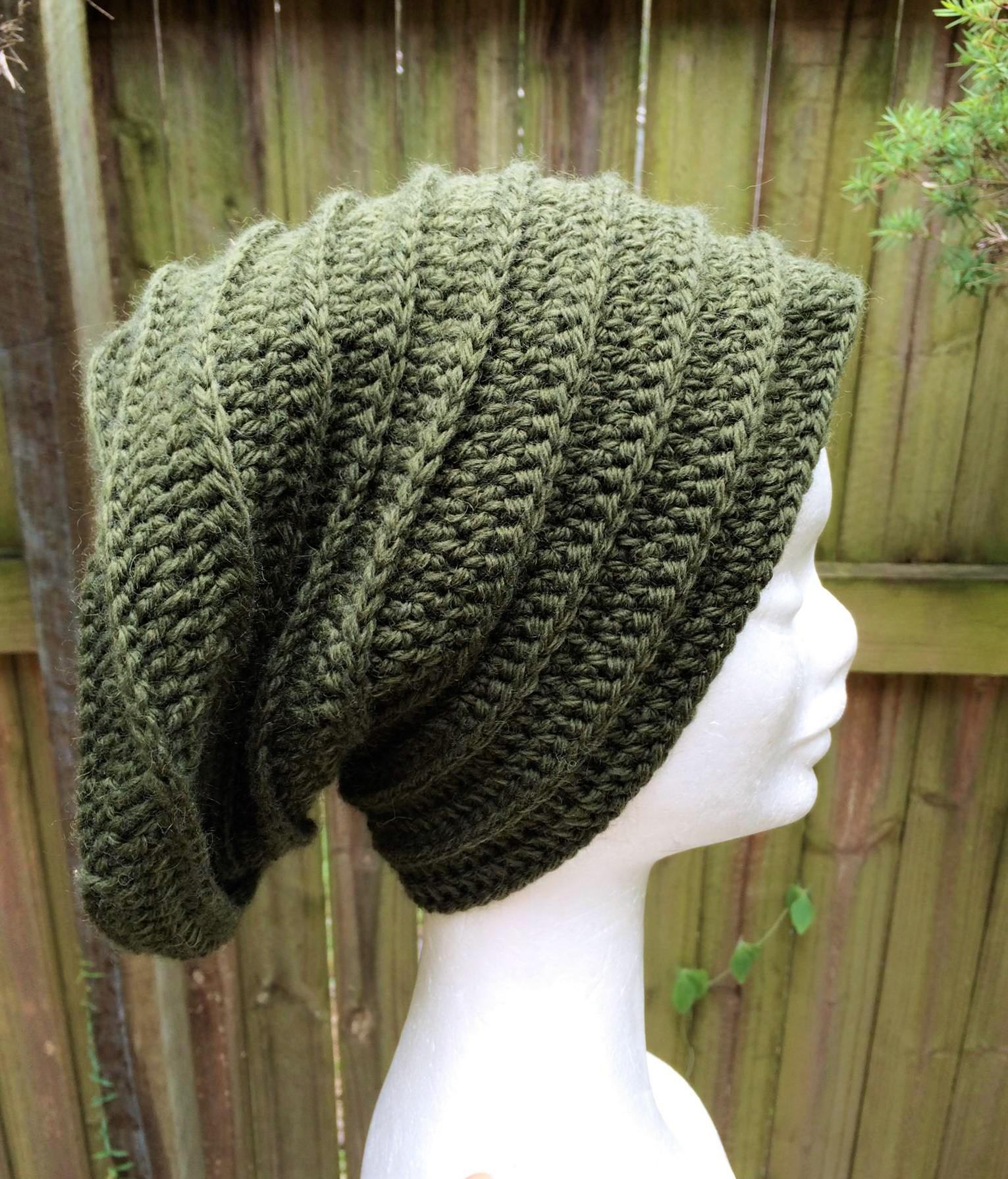 Crochet Beanie Pattern 8 Ply Wool
